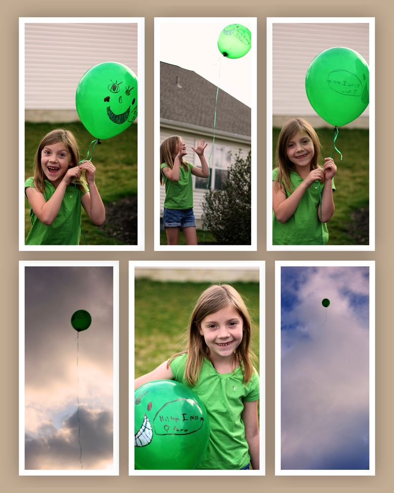 Janie's balloon to heaven