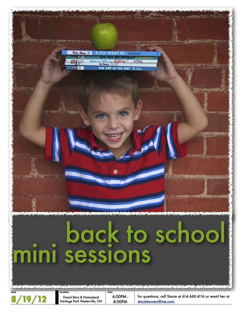!!back to school mini sessions
