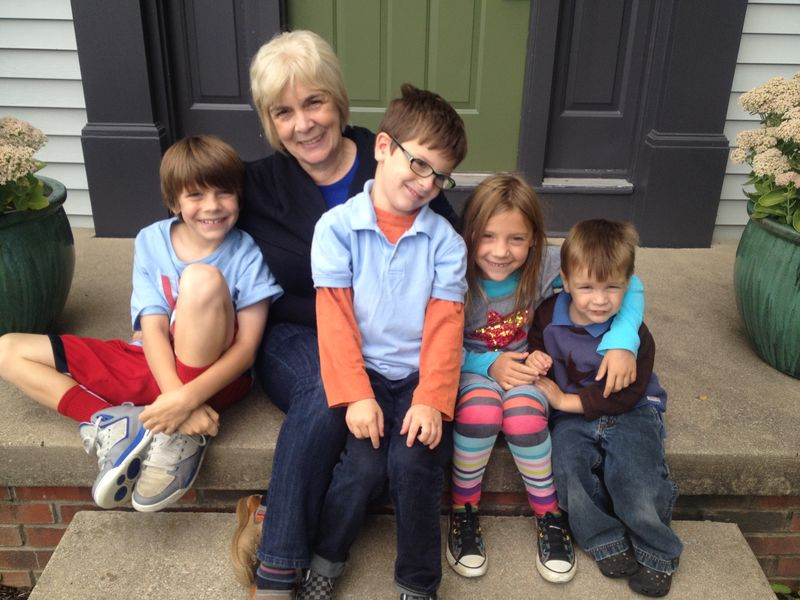 Kids with mom photo